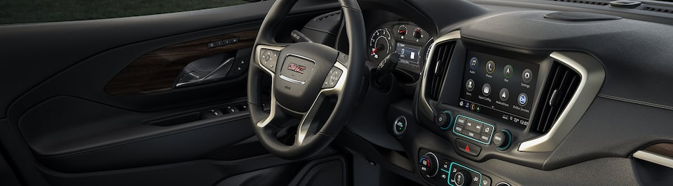 Entertainment and Connectivity features inside the 2020 GMC vehicles.