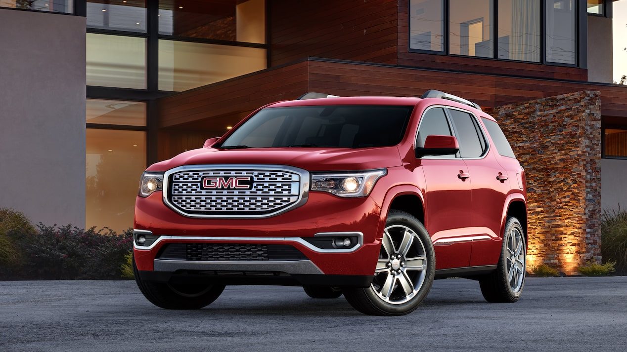 Exterior front profile of the 2019 Acadia Denali.