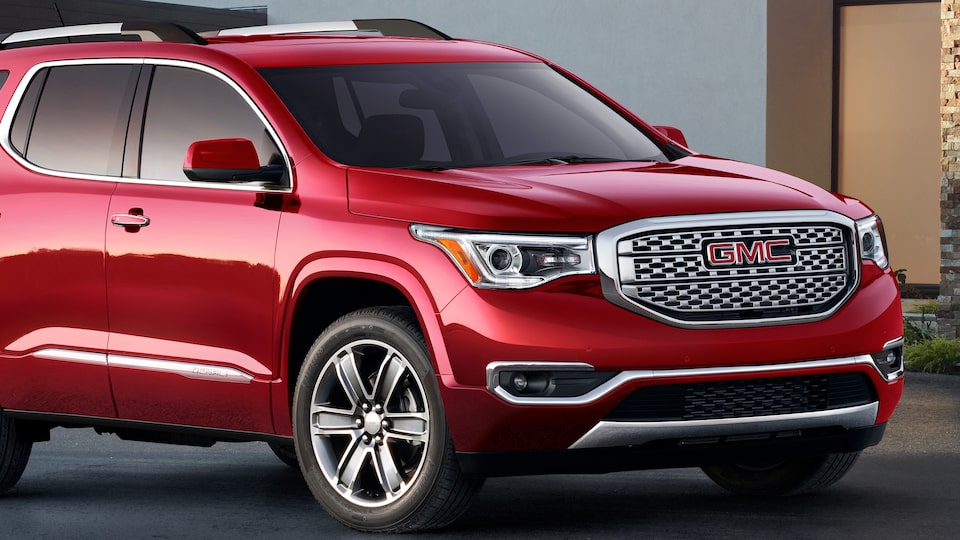 Exterior view of the 2019 GMC Acadia Denali.