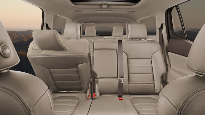 The 2019 Acadia Denali SUV features easy access to all rows.