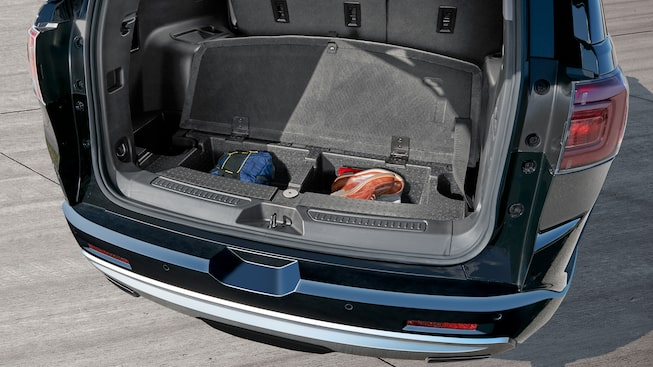The 2019 GMC Acadia Denali features ingenious storage for day-to-day items.