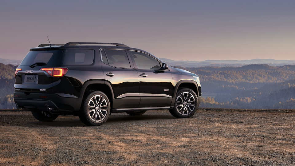 Exterior of the 2019 GMC Acadia mid-size SUV.