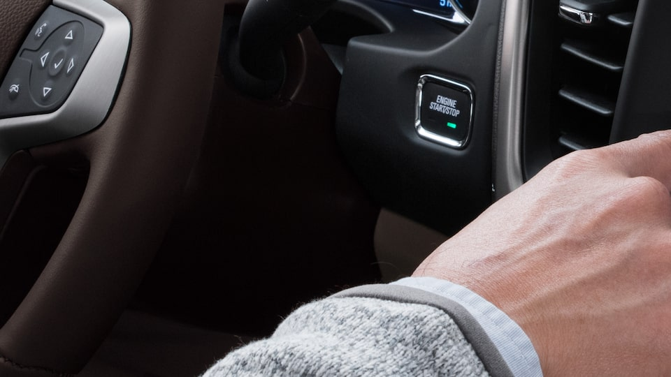 The GMC Acadia comes with innovative keyless open and start feature.