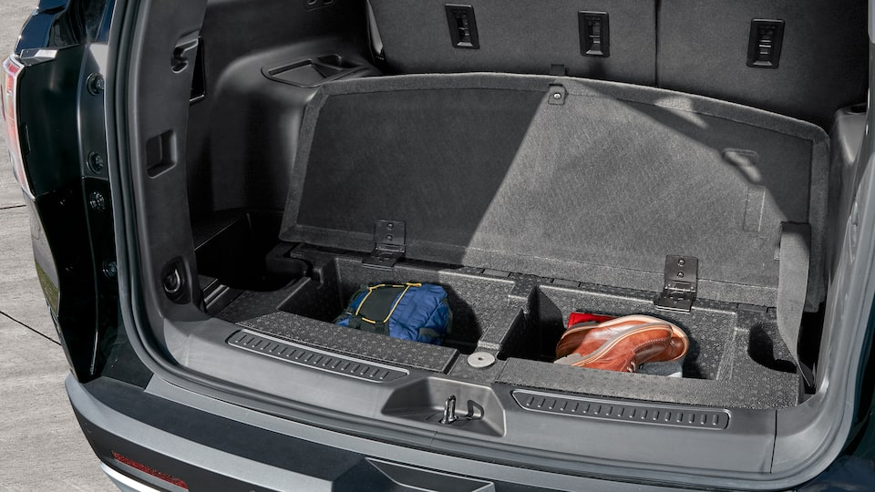 2019 Acadia's ingenious storage compartment.