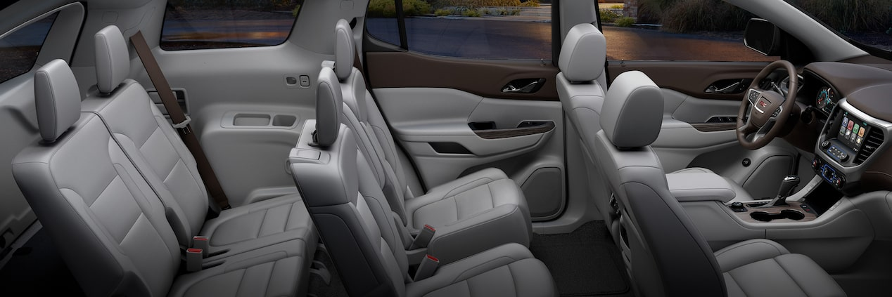 The 2019 GMC Acadia featured seating options for 5, 6 or 7 people.