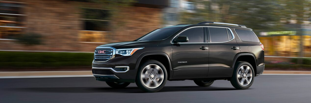 The 2019 GMC Acadia mid-size SUV is available with safety and driver assistance features.