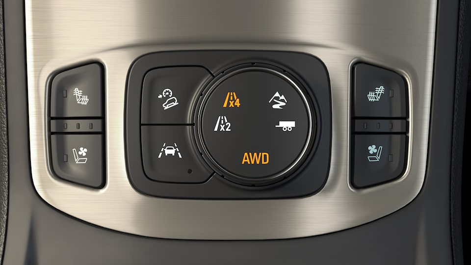 Terrain Denali's standard Traction Select system.