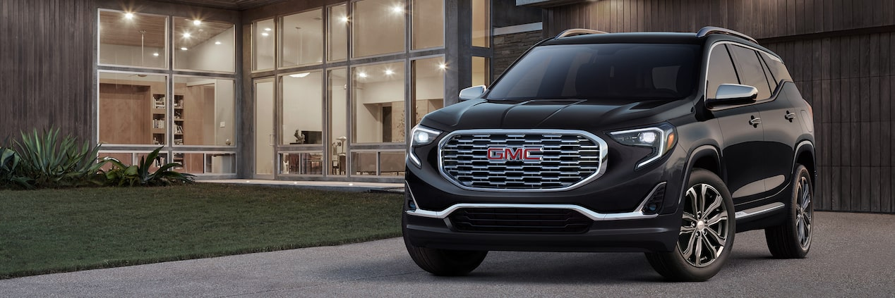 Exterior of the 2019 GMC Terrain Denali compact luxury SUV.