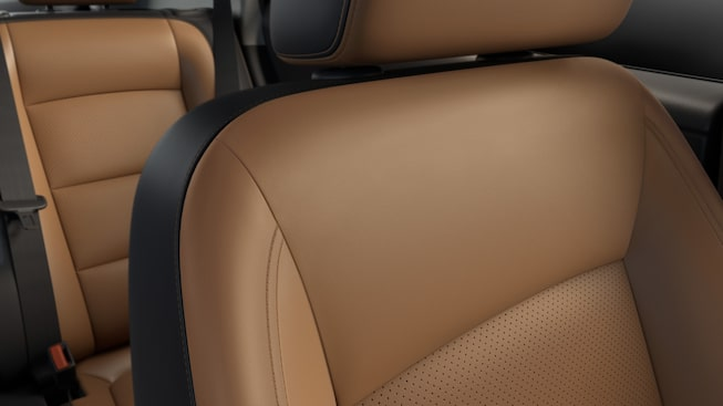 2019 GMC Terrain interior: available leather-appointed front seats.