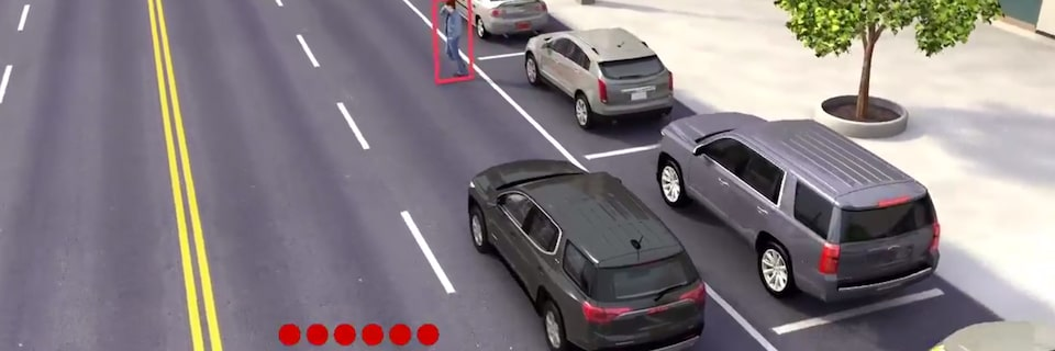GMC Terrain's available Front Pedestrian Braking feature.