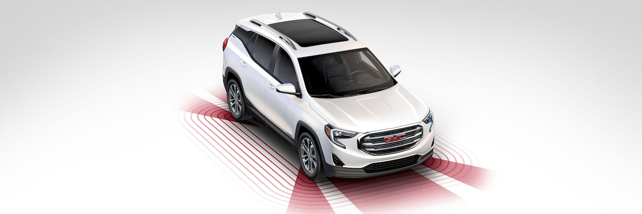 2019 GMC Terrain small SUV's available safety features.