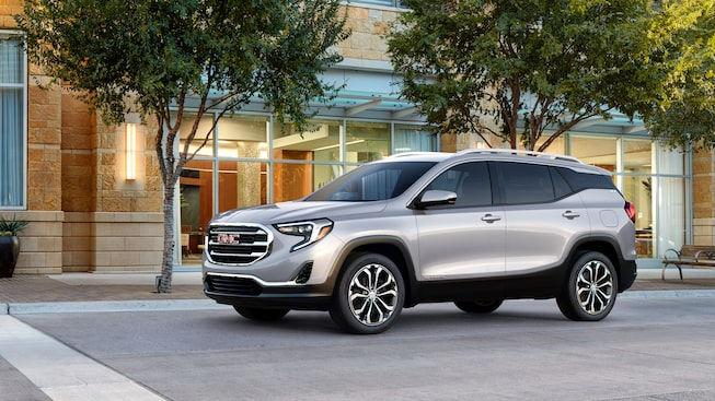 Exterior of the 2019 GMC Terrain small SUV.