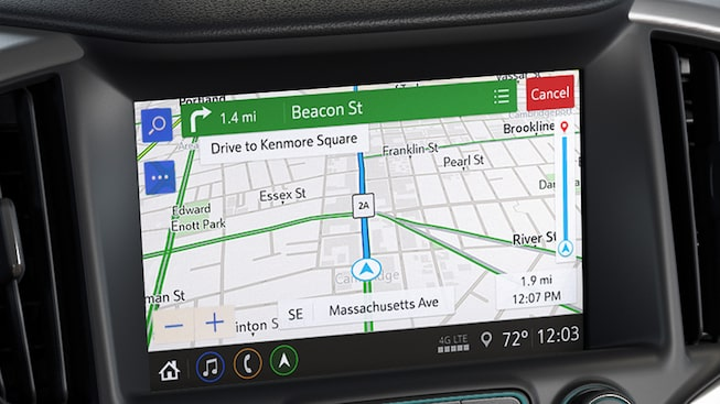 GMC Terrain small SUV's available built-in navigation.