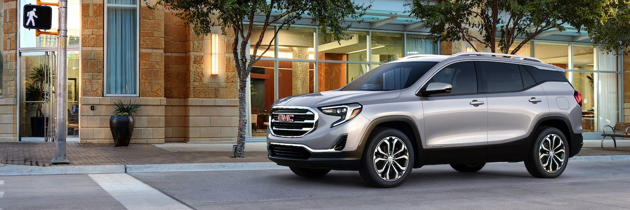 The 2019 GMC Terrain small SUV.