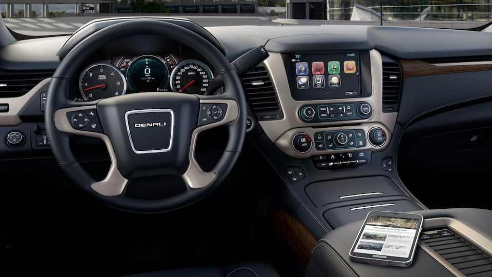 The GMC Yukon Denali's customizable driver information display.