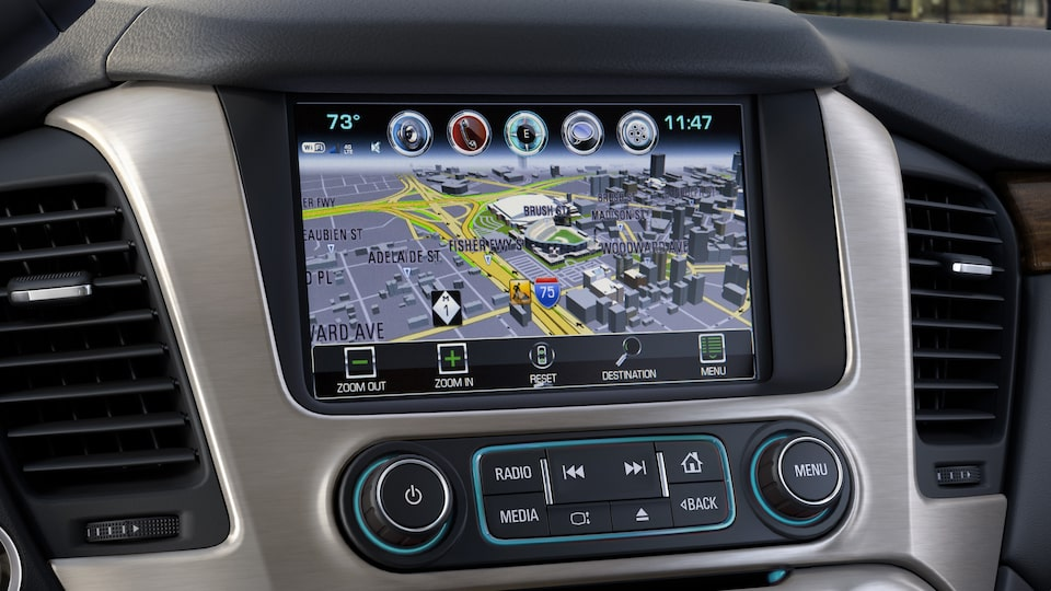 The 2019 GMC Yukon Denali's Infotainment System.