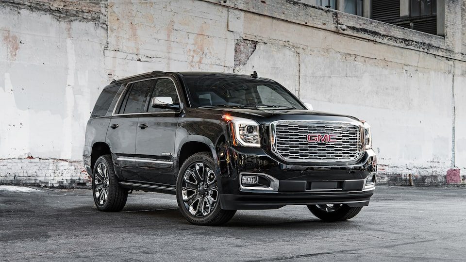 Front exterior view of the 2019 Yukon Denali.