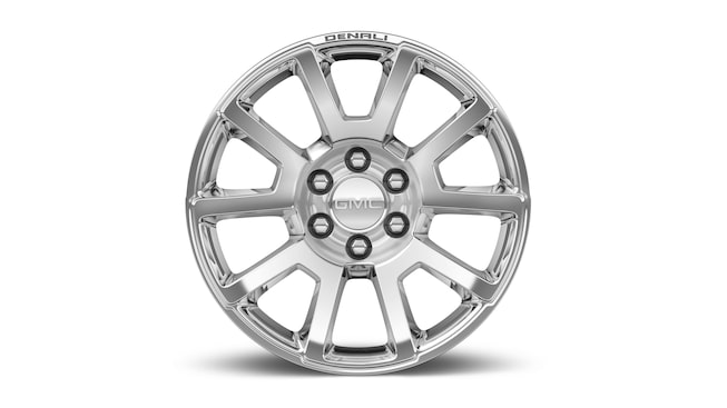 GMC Yukon Denali's available 20-inch chrome wheels.