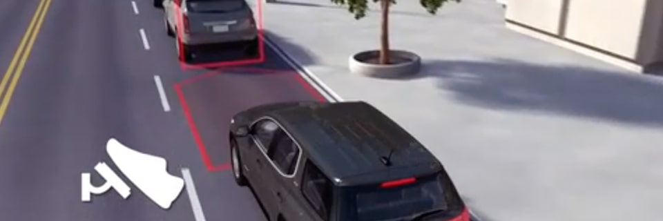 Automatic Braking feature of the 2019 Yukon Denali full-size luxury SUV.
