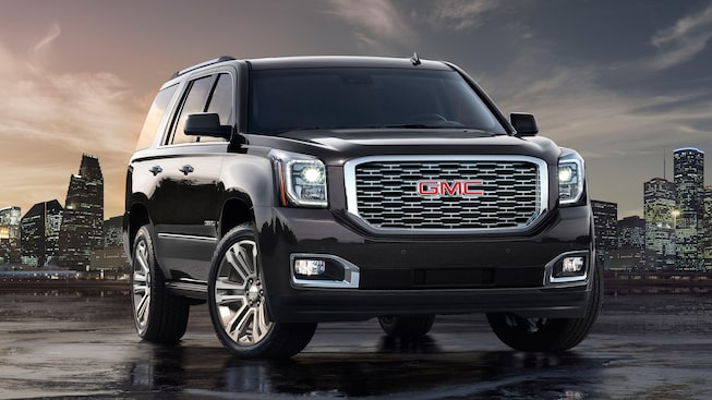 Front exterior view of the GMC Yukon Denali.