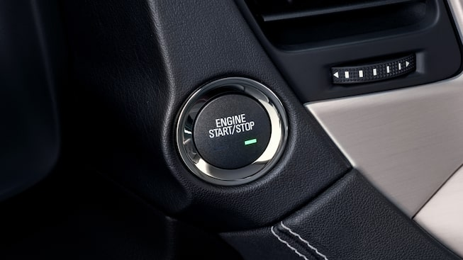 The push-button start available in the 2019 GMC Yukon Denali.