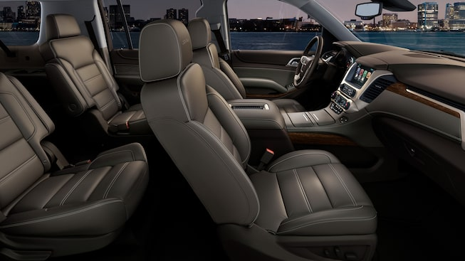 The GMC Yukon Denali is crafted with premium, perforated leather-appointed seating.