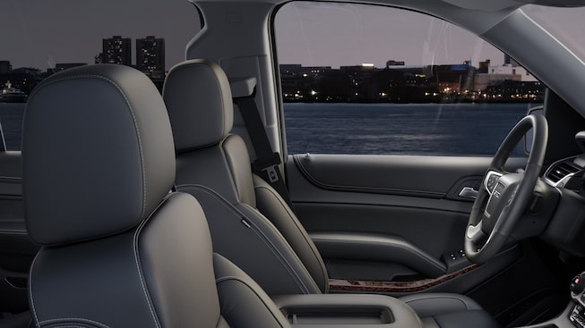 The 2019 GMC Yukon's heated and ventilated front seats with perforated leather.