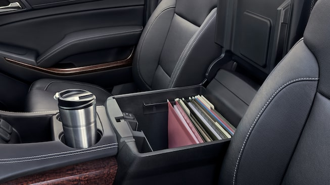 The large interior storage space of the GMC Yukon.