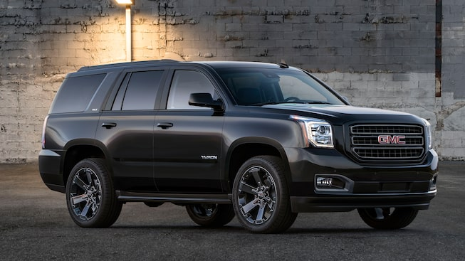 Exterior of the 2019 GMC Yukon in Graphite.