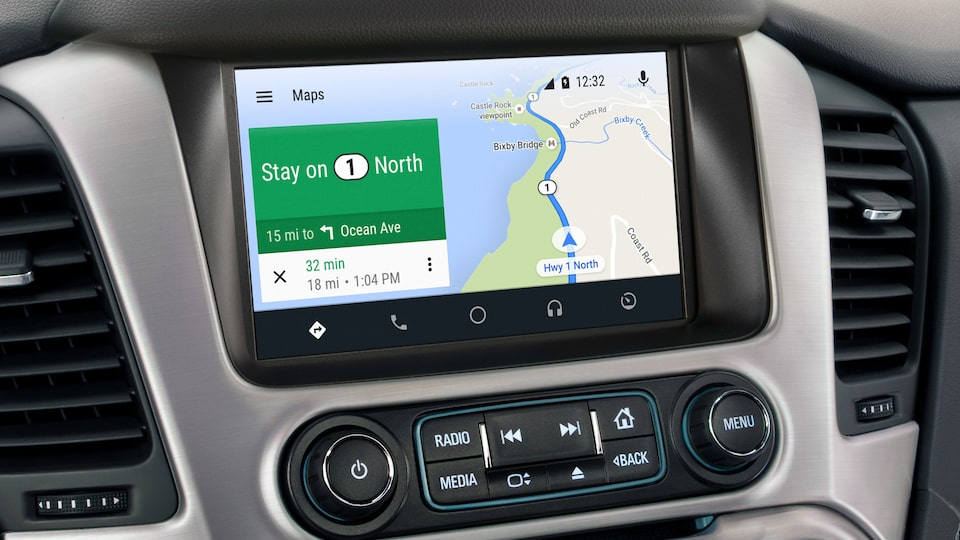 The GMC Yukon's 8-inch colour touch-screen with seamless connection to Android Auto.
