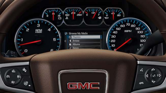 The customizable drive experience display of the GMC Yukon.