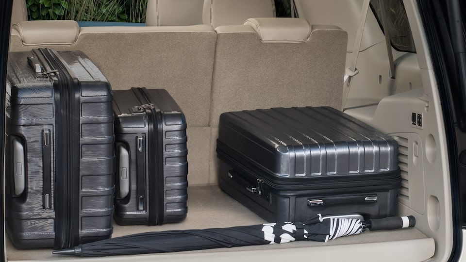 The 2019 Yukon full-size SUV's interior cargo space.