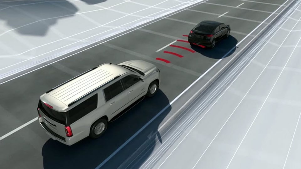 GMC Yukon's Header Collision Alert assistance feature.