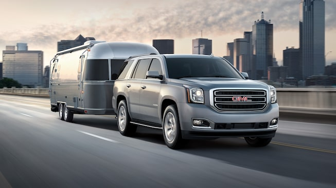 The 2019 GMC Yukon full-size SUV's available heavy-duty trailering.