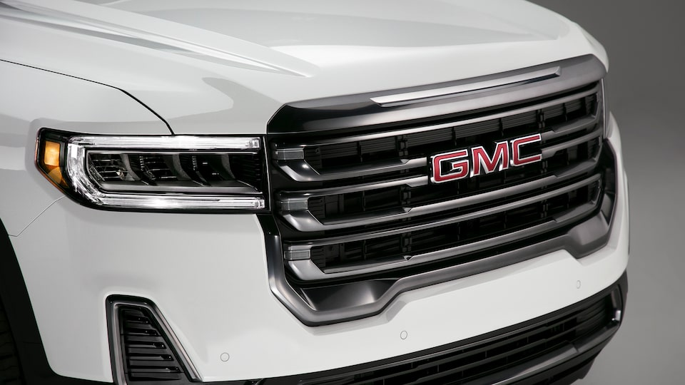 2020 GMC Acadia AT4 Mid-Size SUV: Grille View.