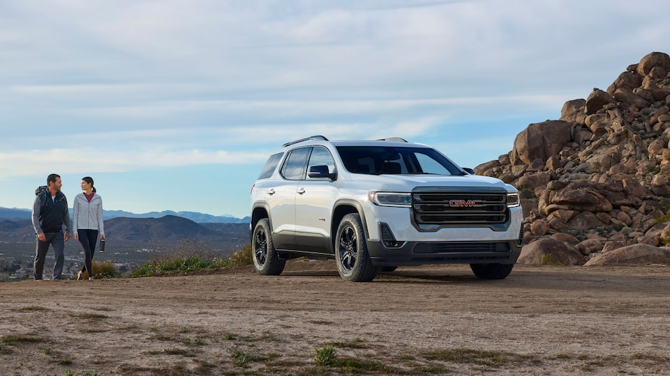 2020 GMC Acadia AT4 Mid-Size SUV: Front Angle View.