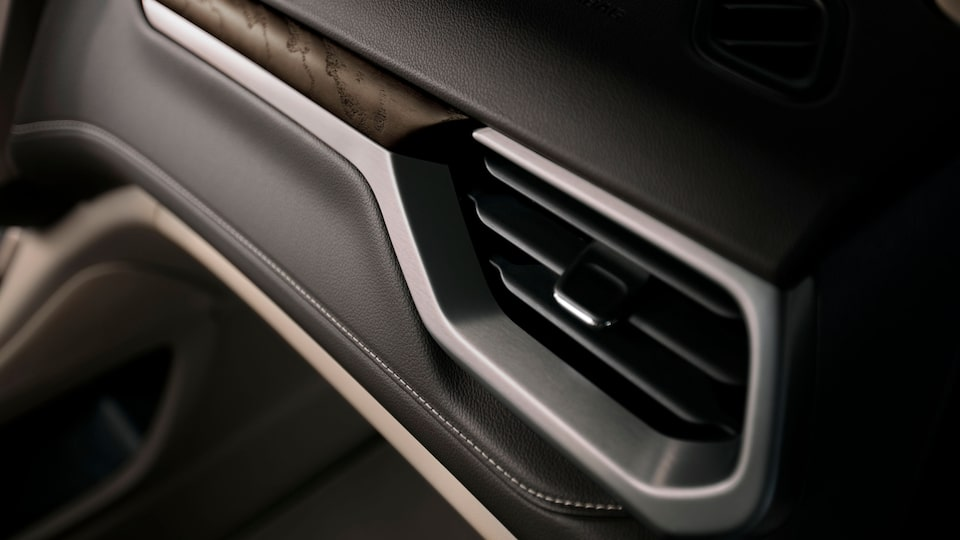 Premium Material Used On The Dashboard Of The 2020 GMC Acadia Denali Luxury SUV.