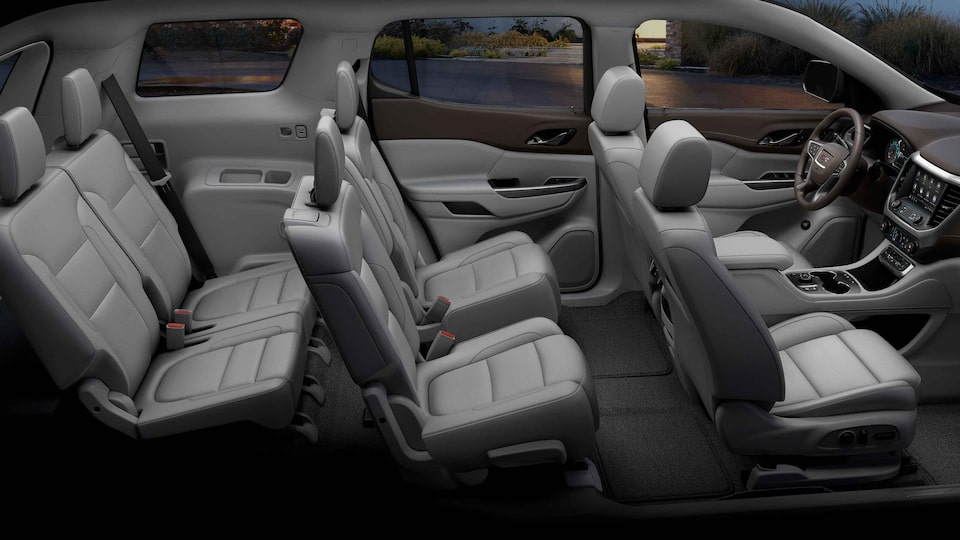 2021 GMC Acadia SLE/SLT with 3 rows of seats.