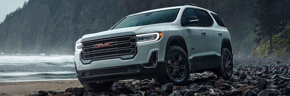 Scenic view of the 2021 GMC Acadia.