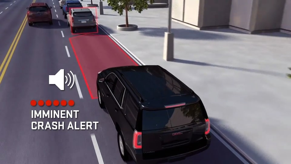 2021 GMC Acadia Forward Collision Alert safety feature.