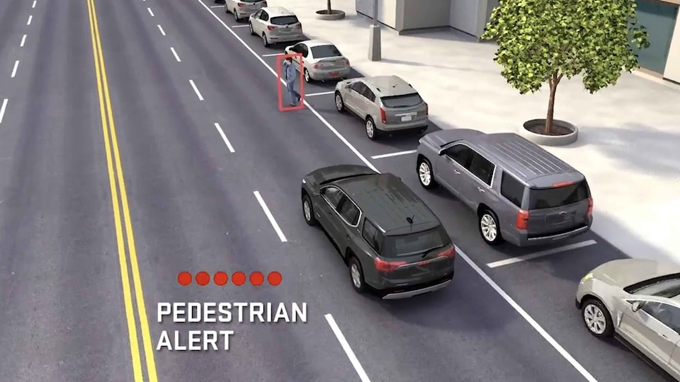 2021 GMC Acadia Front Pedestrian Braking safety feature.