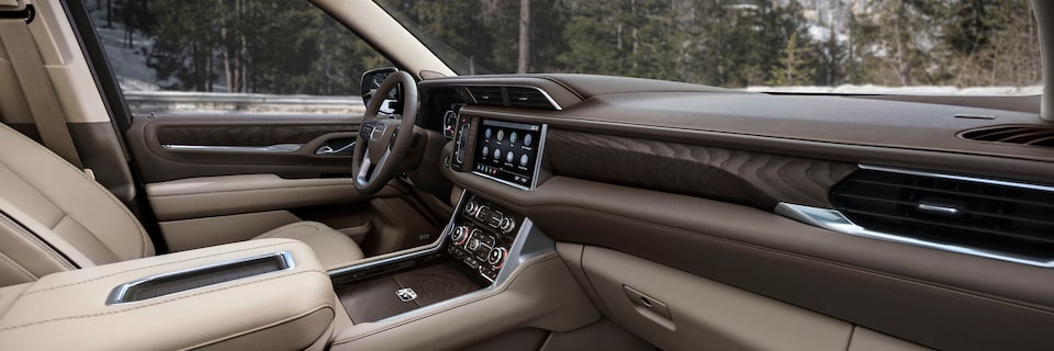 2021 Yukon interior dashboard.