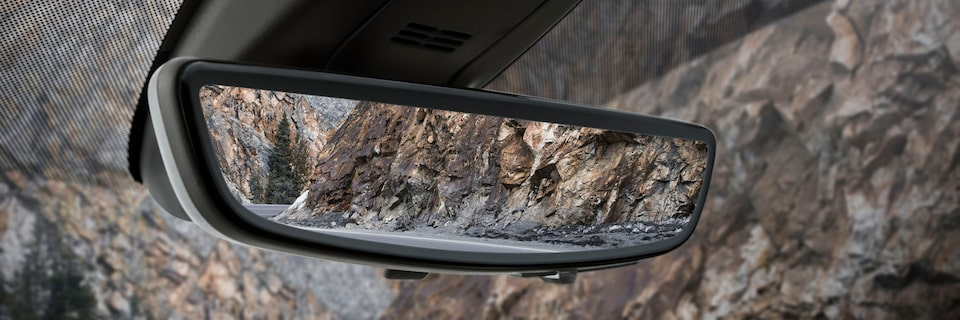 2021 Yukon rear camera mirror.