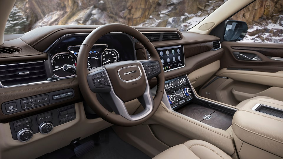 2021 GMC Yukon Denali features: interior.