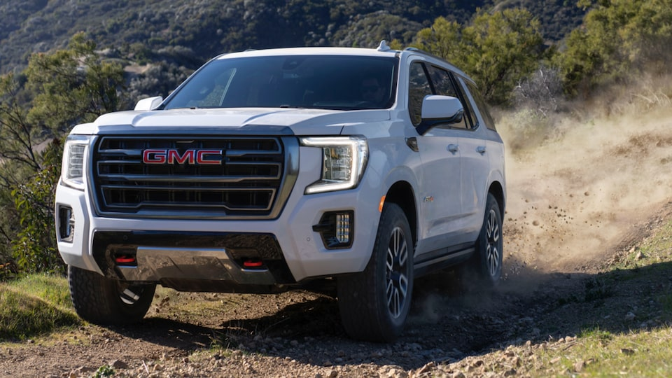2021 Yukon AT4 driving off-road