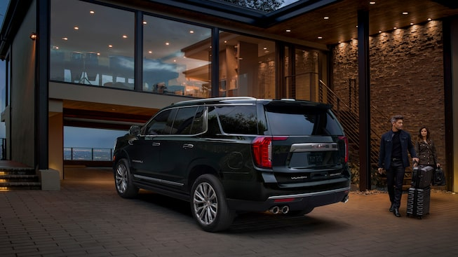 2021 GMC Yukon Denali rear view.
