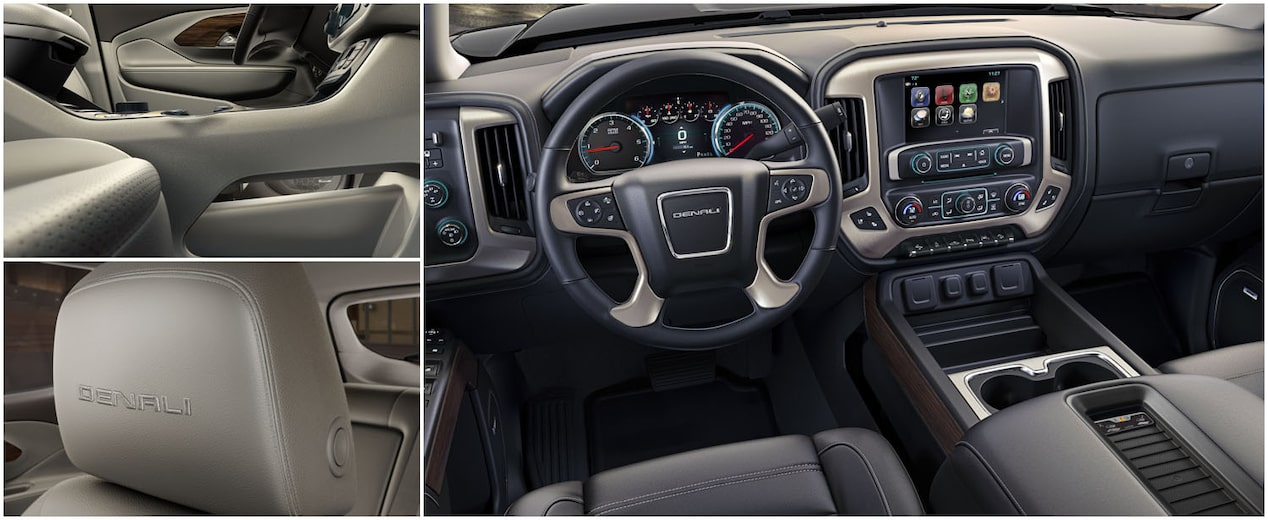 2019 GMC Denali vehicle interior.