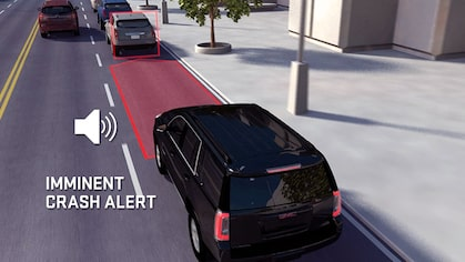 2019 GMC vehicles with Forward Collision Alert feature.