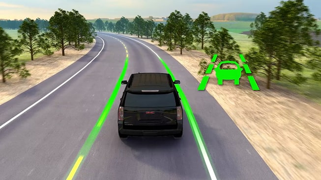 2019 GMC vehicle safety: with available Lane Departure Warning.