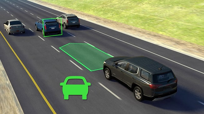 2019 GMC vehicle safety: with available Adaptive Cruise Control feature.